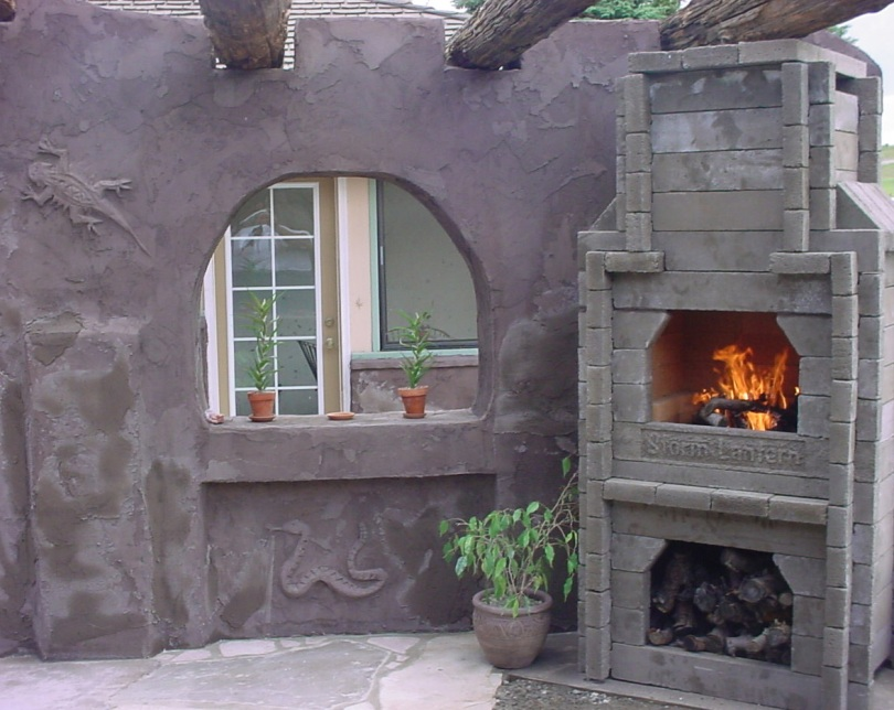 ruins fireplace