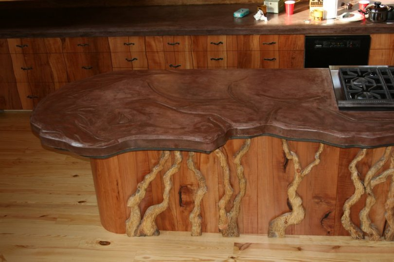 horse countertop finished