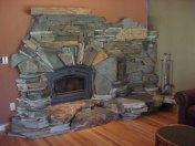 interior stone fireplace