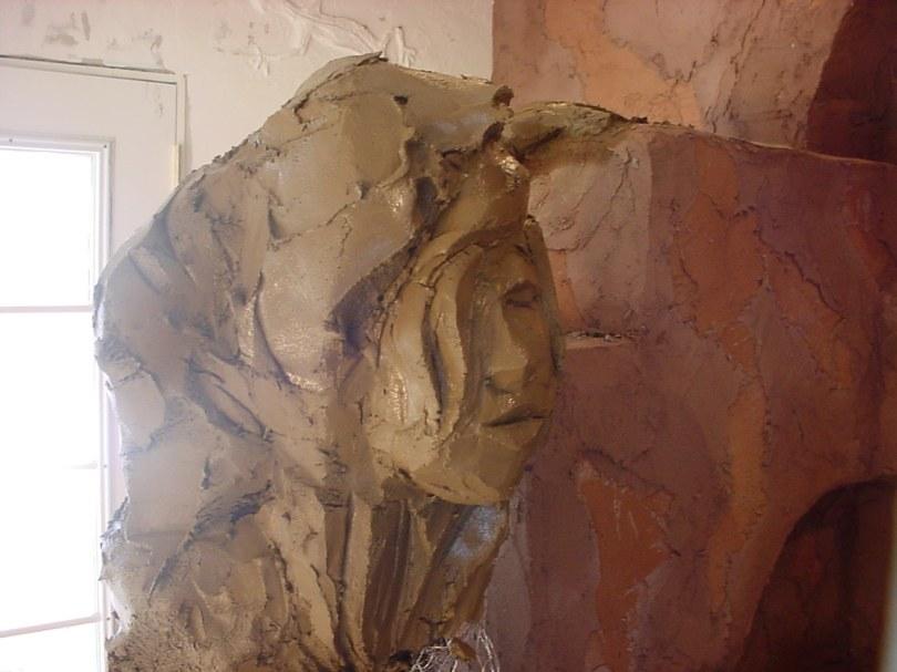 cement sculpture in progress