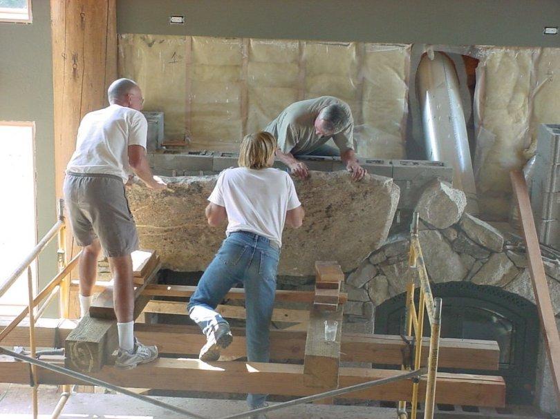 placing stone slab