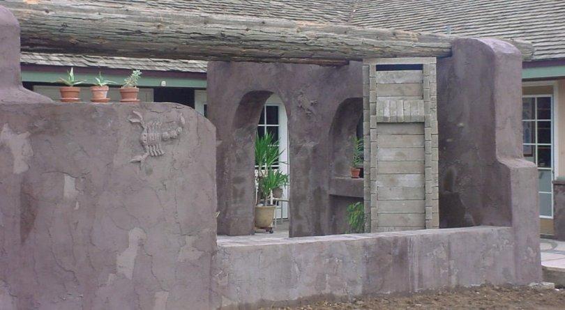 ruins courtyard