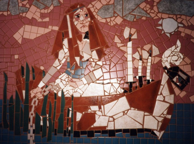 Our Lady of Shallott mosaic
