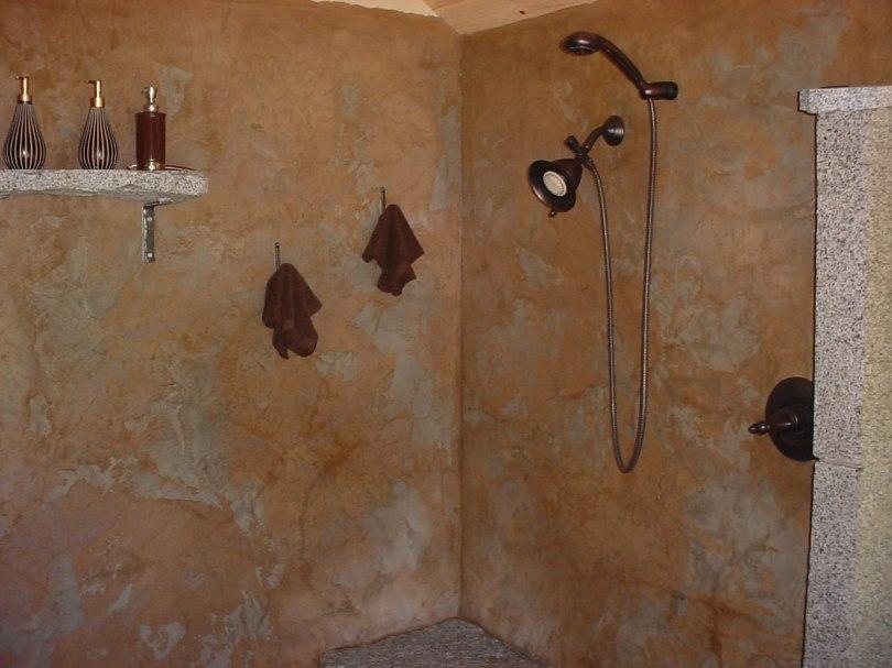 cement shower
